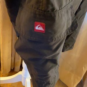 💞QuickSilver Black with Gray lining Cargo Shorts